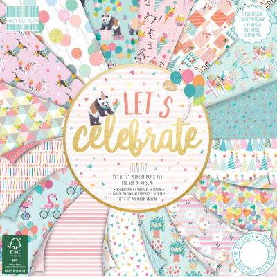 First Edition Let's Celebrate 12x12 Inch Paper Pad